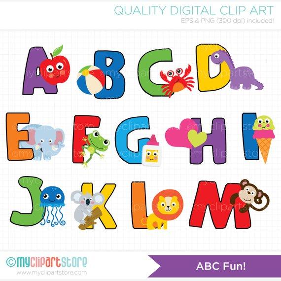 Alpha alphabet back to. Abc clipart fun
