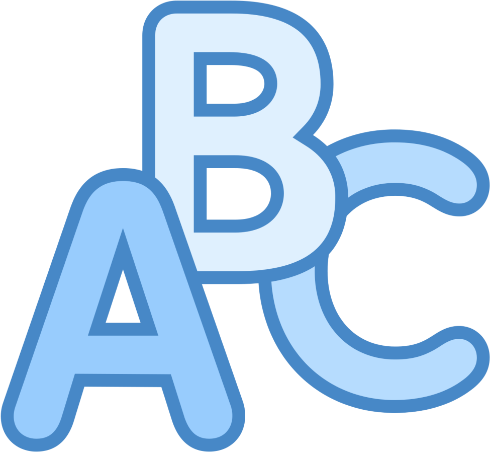 Png picture blue full. Abc clipart icon