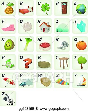 Abc clipart icon. Eps illustration cartoon cliparts
