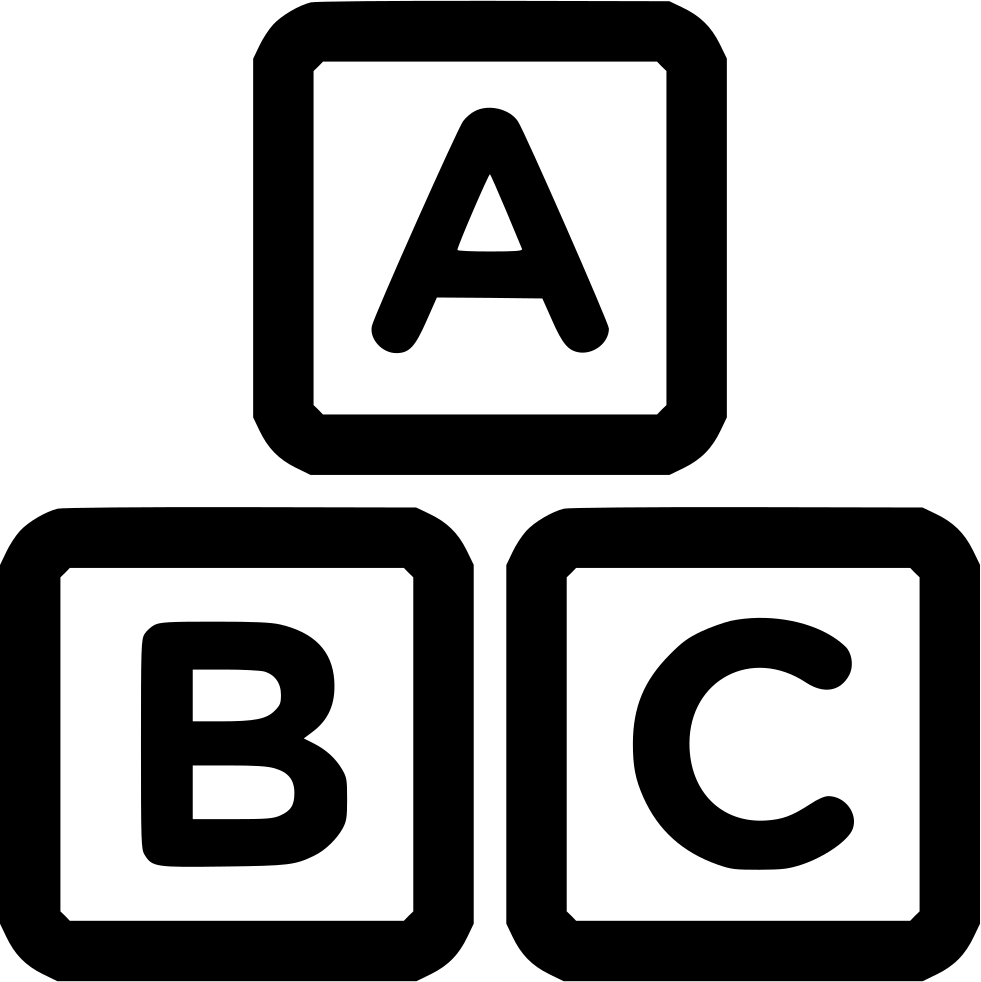 Blocks svg png free. Abc clipart icon
