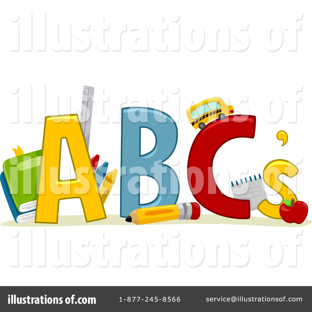 Abc clipart illustration. By bnp design studio