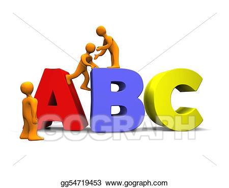Stock d gg gograph. Abc clipart illustration