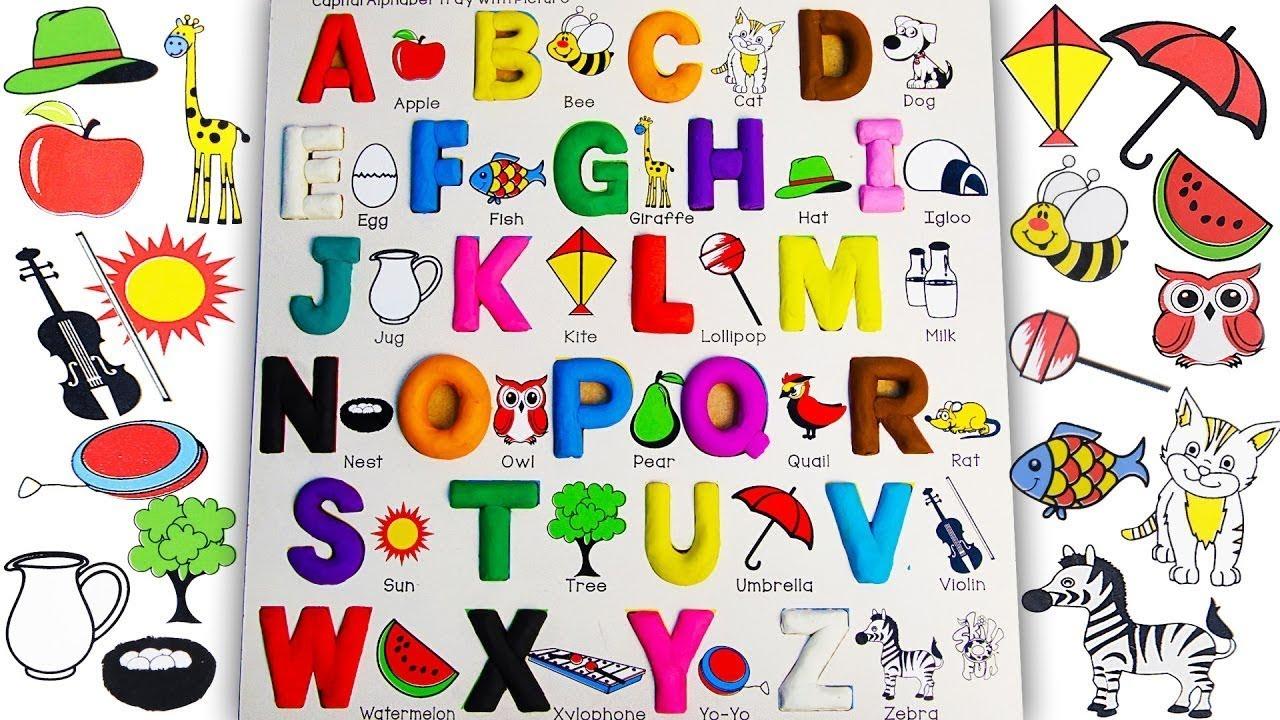 Abc clipart kindergarten. Learn alphabet for kids