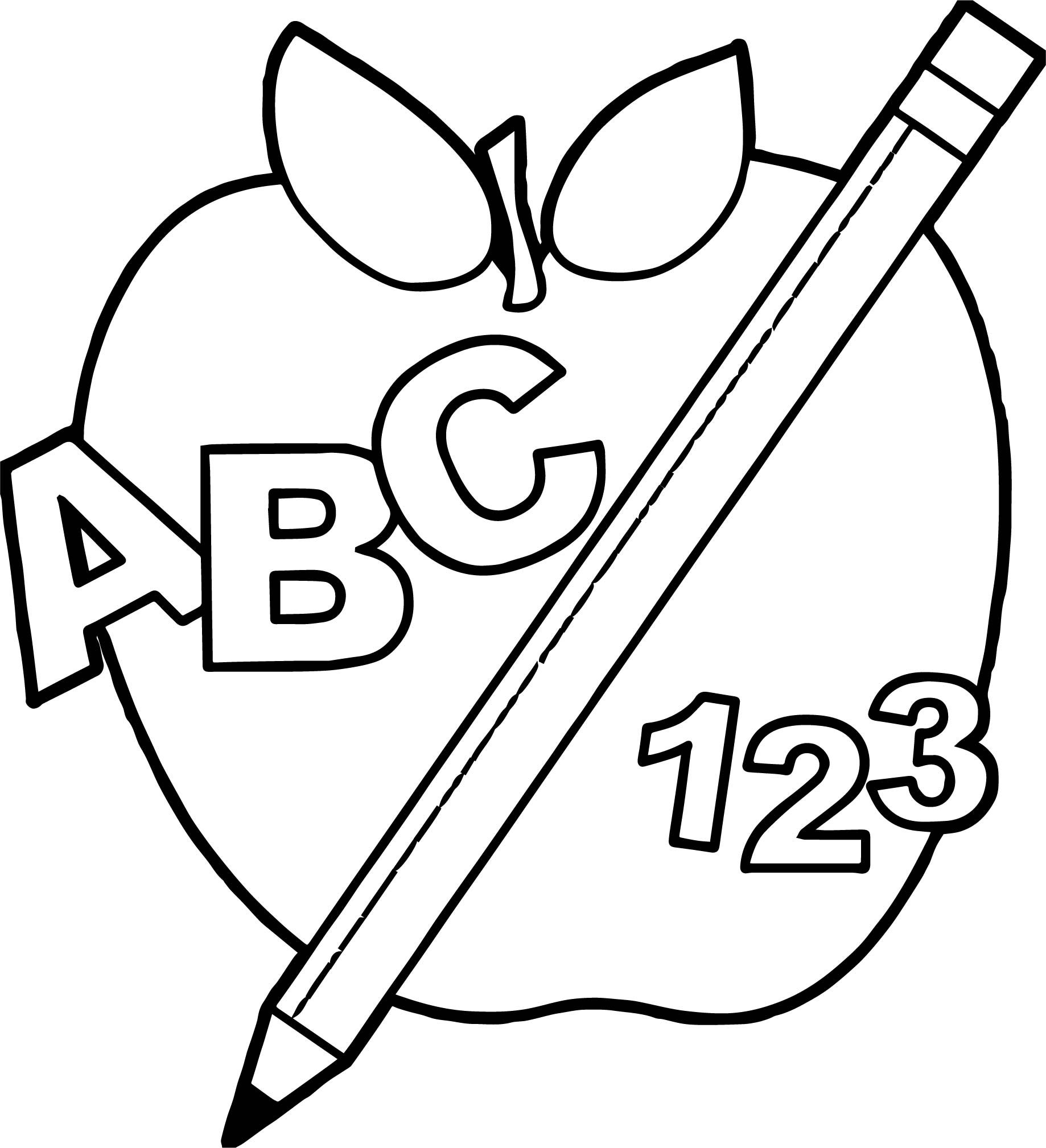 Print coloring pages for. Abc clipart kindergarten