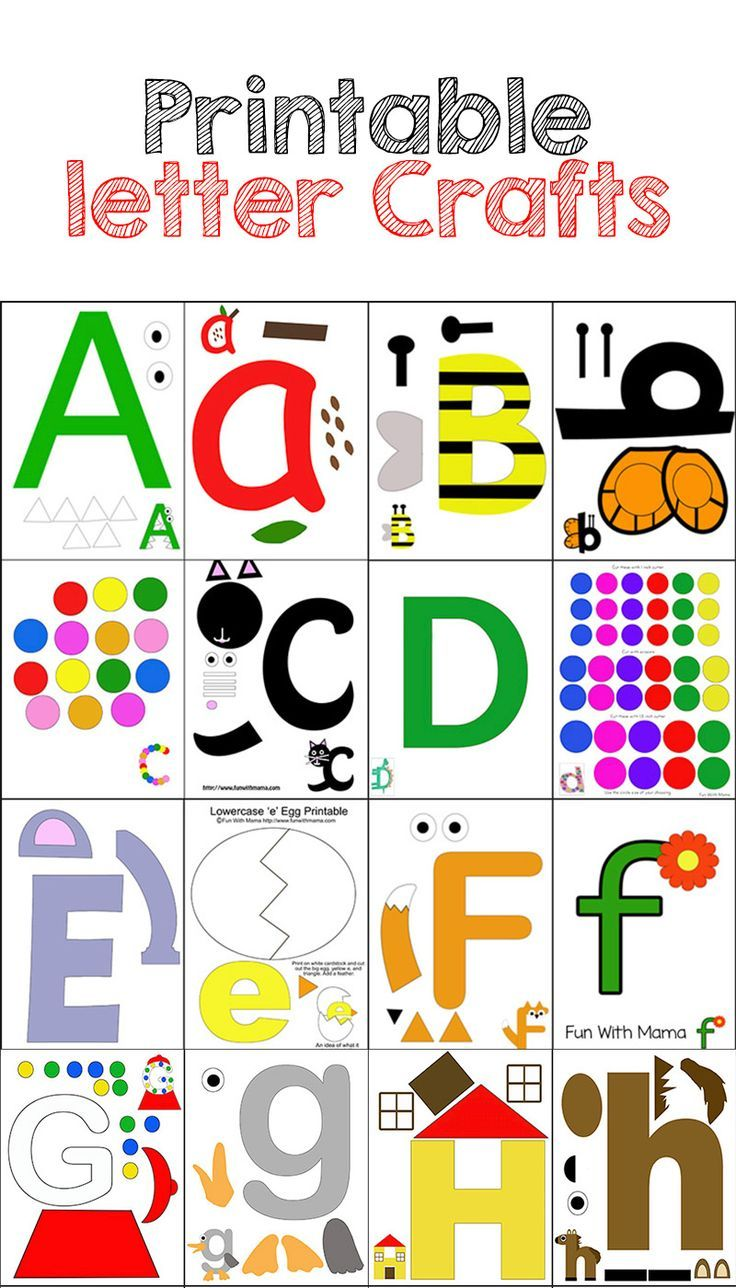 Abc clipart letter week. Printable alphabet crafts pack