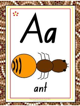 Abc clipart letter week. Australian aboriginal alphabet chart