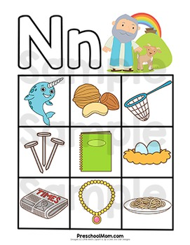 Bible of the n. Abc clipart letter week