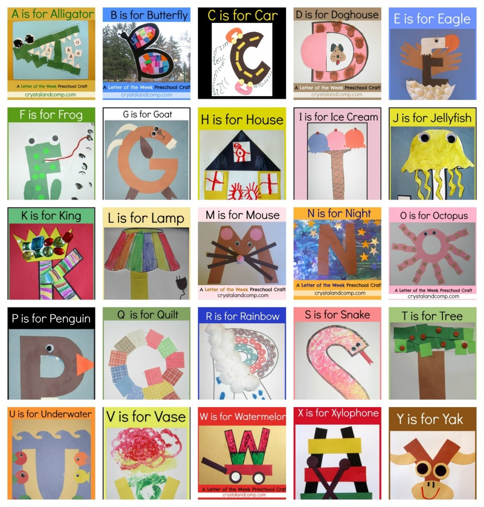 Of the crafts . Abc clipart letter week