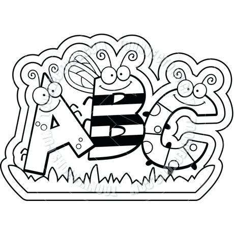 Abc clipart line drawing. Blocks at paintingvalley com