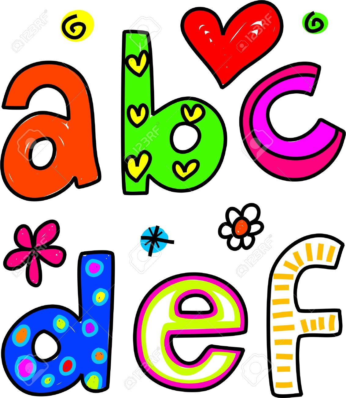 Abc clipart line drawing.  collection of lowercase