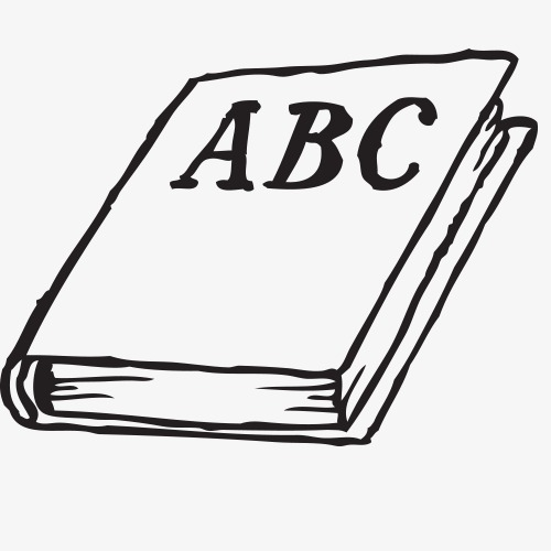 Learning materials desk learn. Abc clipart line drawing
