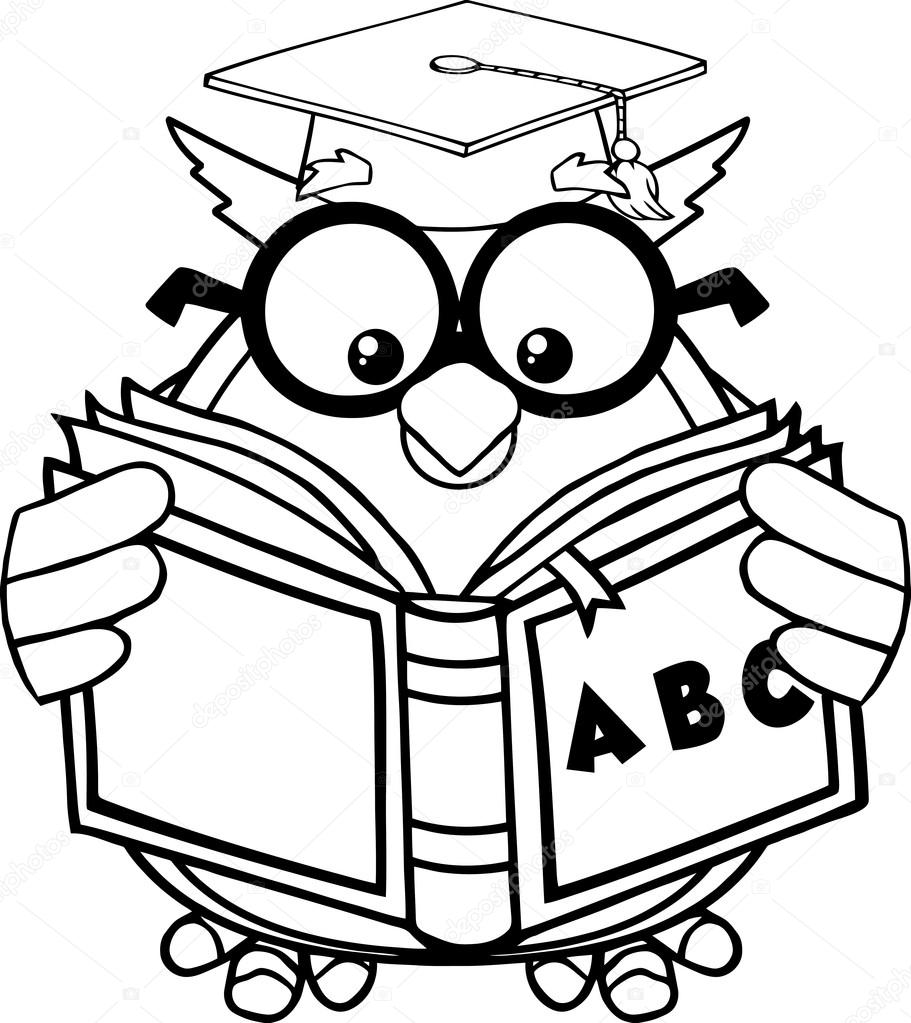 Black and white free. Abc clipart line drawing