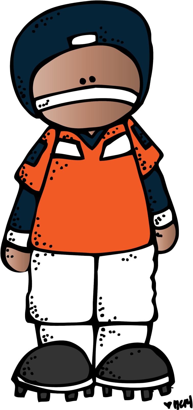 Color clipart football player. Melonheadz celebrate a freebie