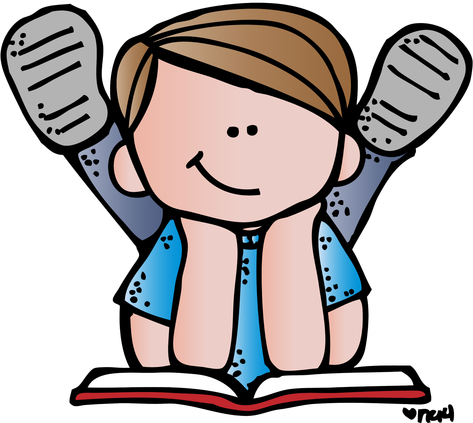 Poetry clipart child. Melonheadz reading pinterest clip