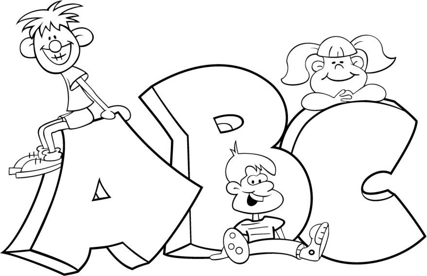 Blocks coloring pages coloringpages. Abc clipart outline