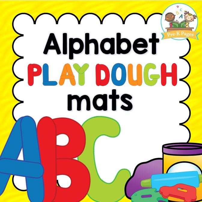 Abc clipart pre k. Alphabet play dough mats