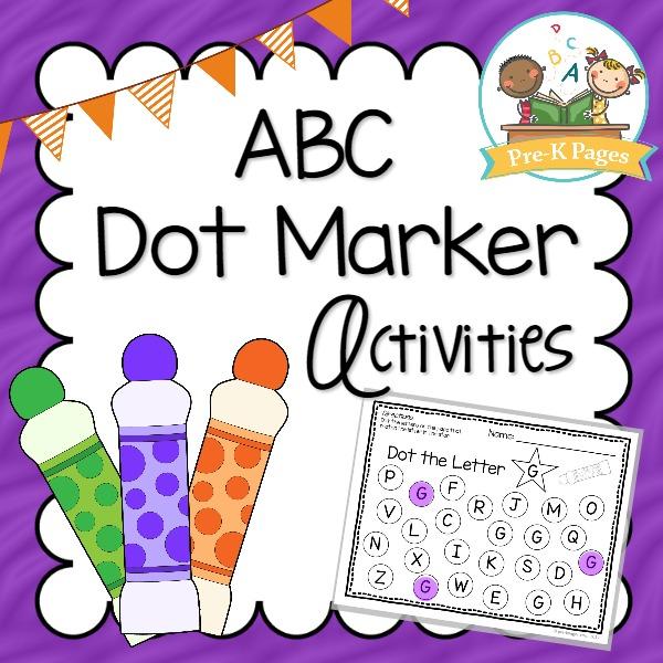 Bingo dot marker activities. Abc clipart pre k