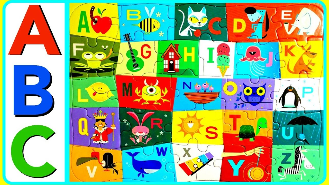 Abc clipart puzzle. Learn alphabet with fun
