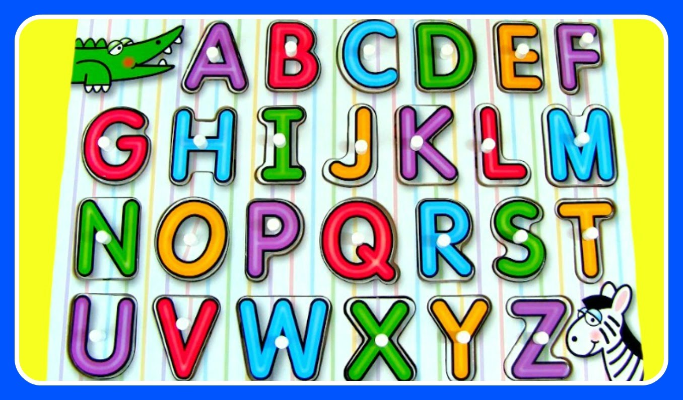 Abc clipart puzzle. Learn alphabet fun video