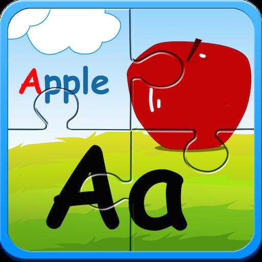 Preschool alphabet kids puzzles. Abc clipart puzzle