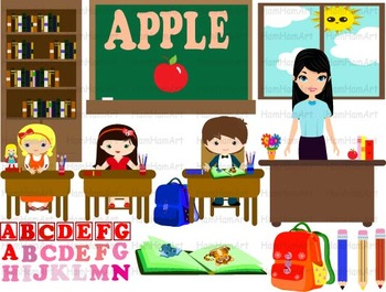 School clip art alphabet. Abc clipart teacher