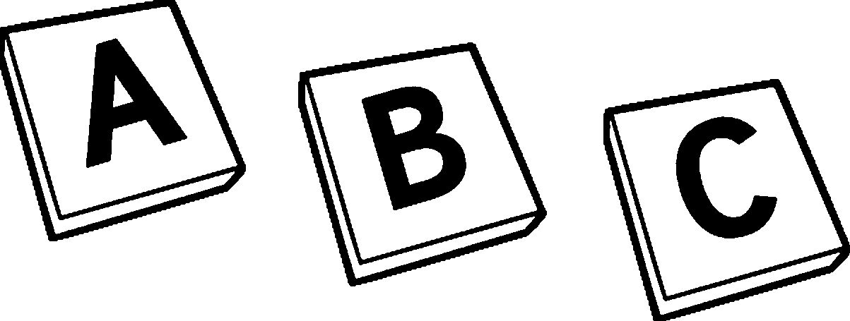 Alphabet clipart black and white. Letter sample letters formats