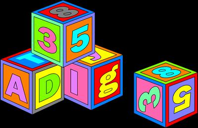 Block clipart toy. Image of abc blocks