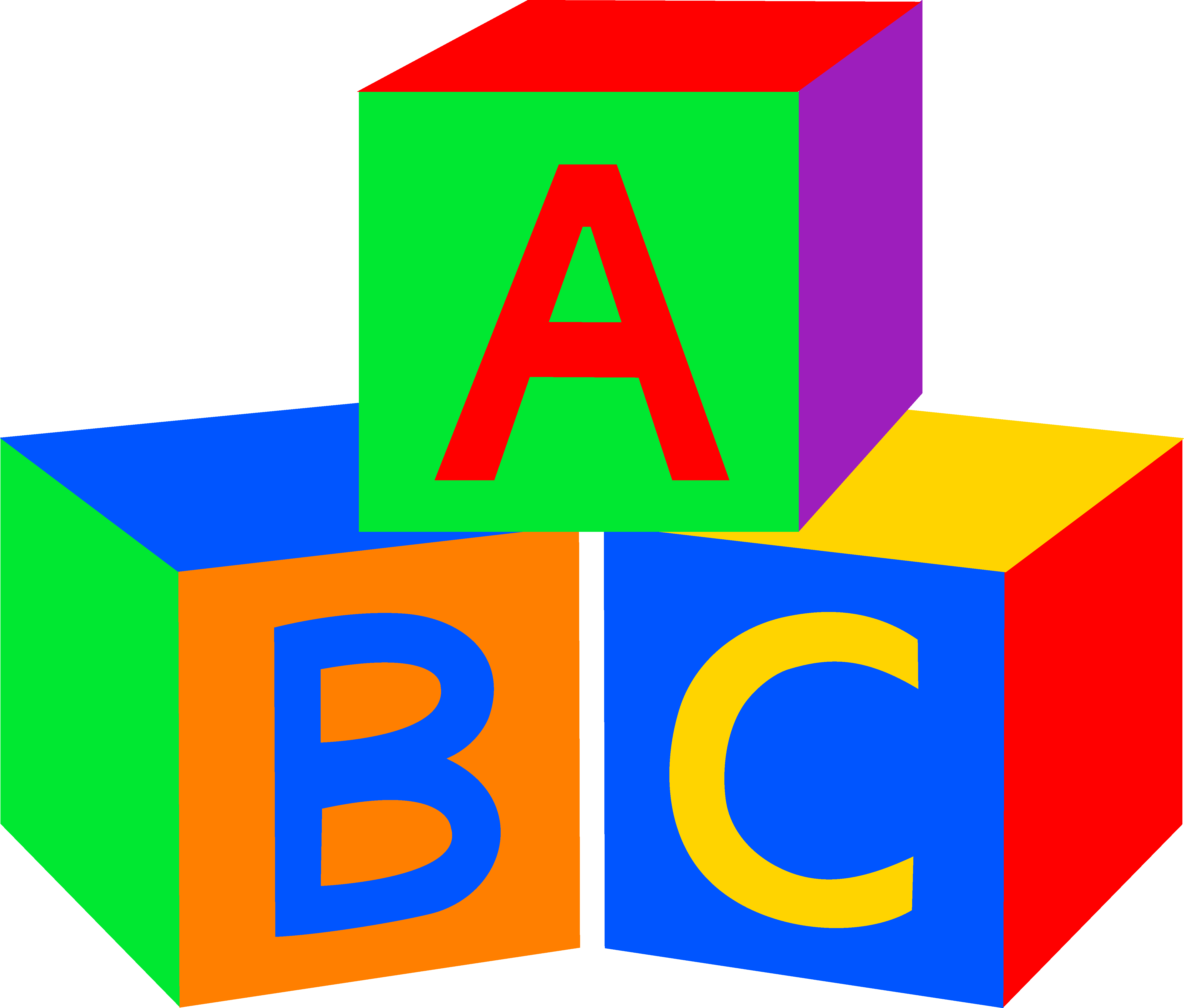 Free pictures baby abc. Clipart toys block
