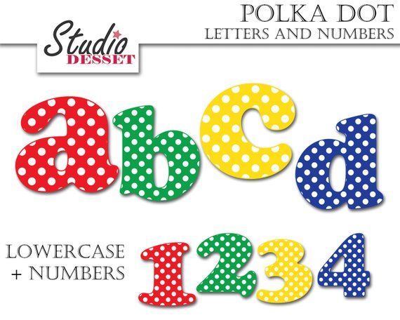 Abc clipart uppercase letter. Letters cliparts polka dot
