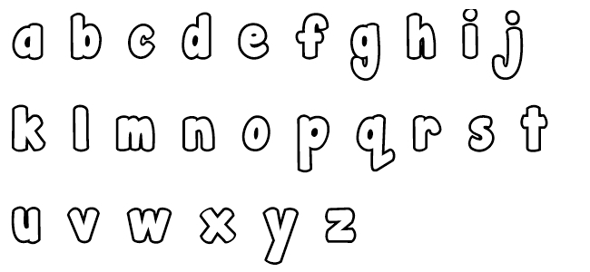 Alphabet clipart uppercase letter. Bubble letters lowercase and