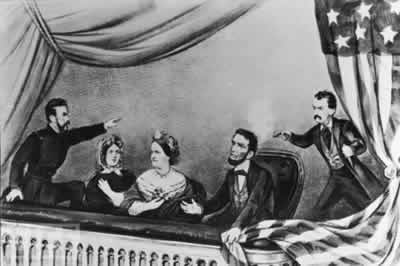 Abe portriat and information. Abraham lincoln clipart assassination