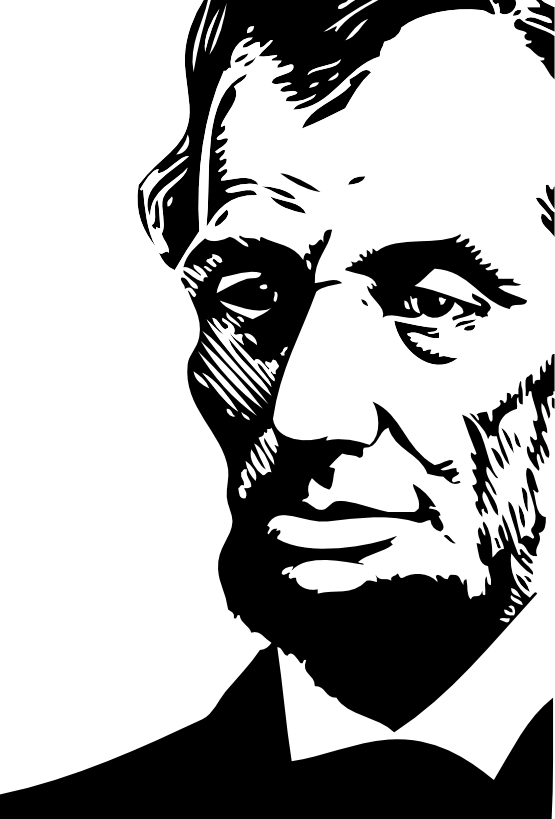 abraham lincoln clipart black and white