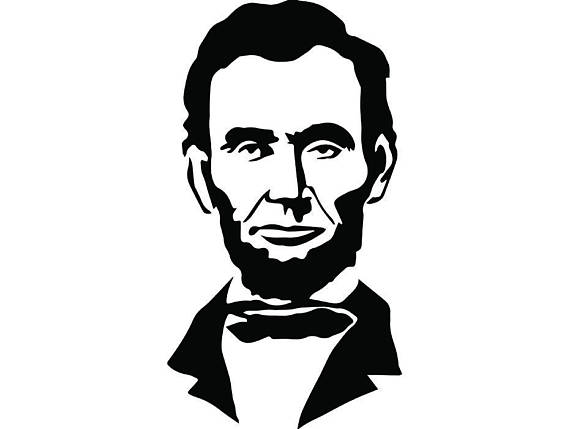 Abraham lincoln clipart black and white. President famous american history