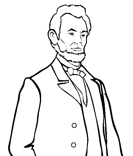 Abraham lincoln clipart coloring. Page book for kids