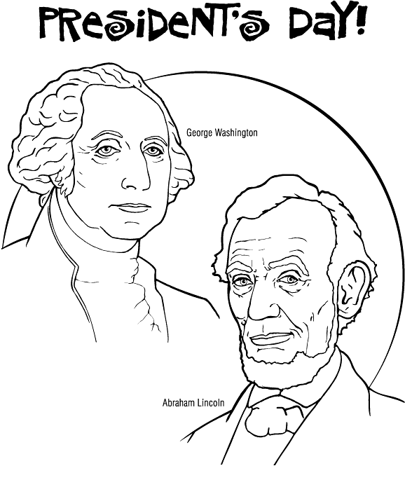 Abraham lincoln clipart coloring. Presidents day pages george