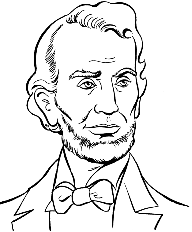 Abraham lincoln clipart coloring. Page book