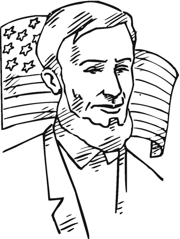 Abraham lincoln clipart coloring. In front of american