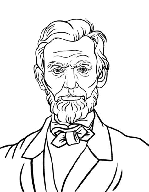 Pages . Abraham lincoln clipart coloring