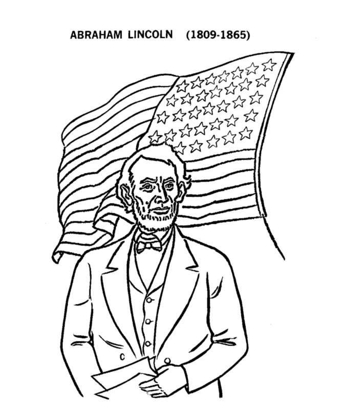 Pictures to print free. Abraham lincoln clipart coloring