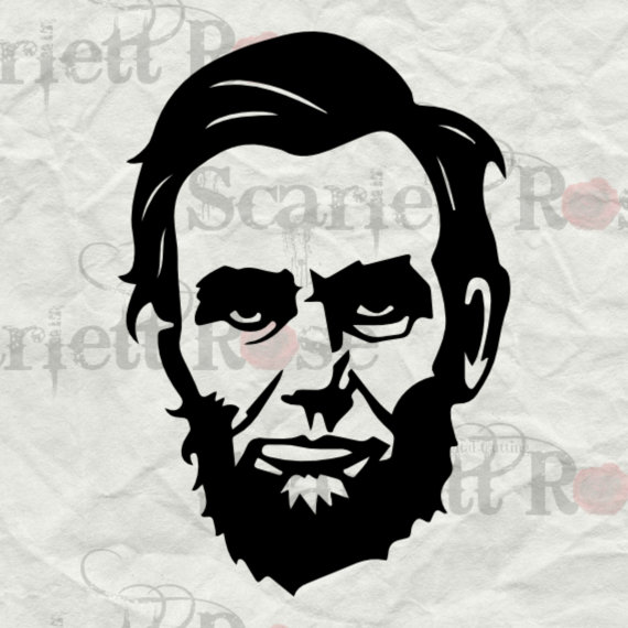 Abraham lincoln clipart cut out. President face svg cutting