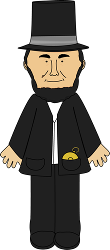 Abraham lincoln clipart cute. Clip art image of