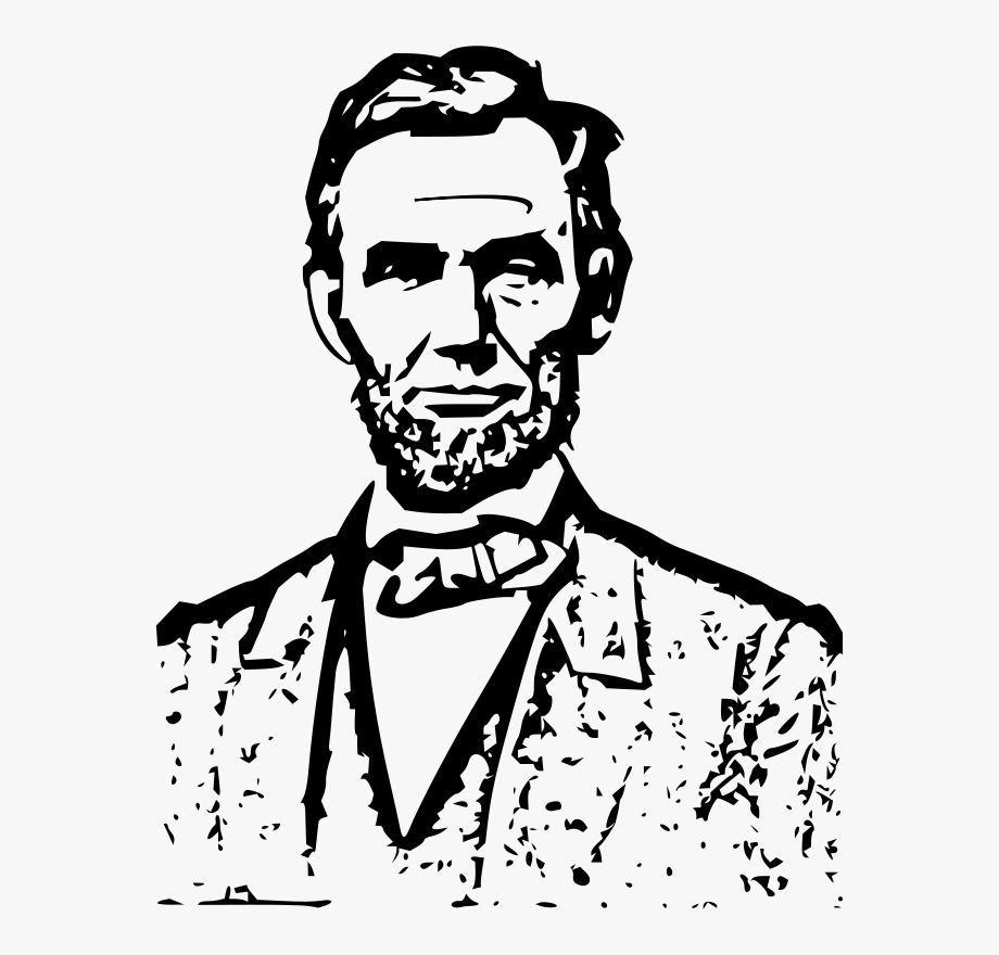 Abraham lincoln clipart drawing. Banner royalty free download