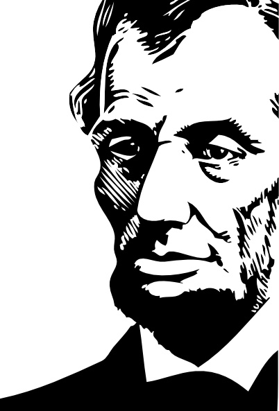abraham lincoln clipart drawing