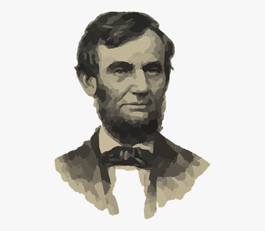 Abraham lincoln clipart drawing. Abe president man