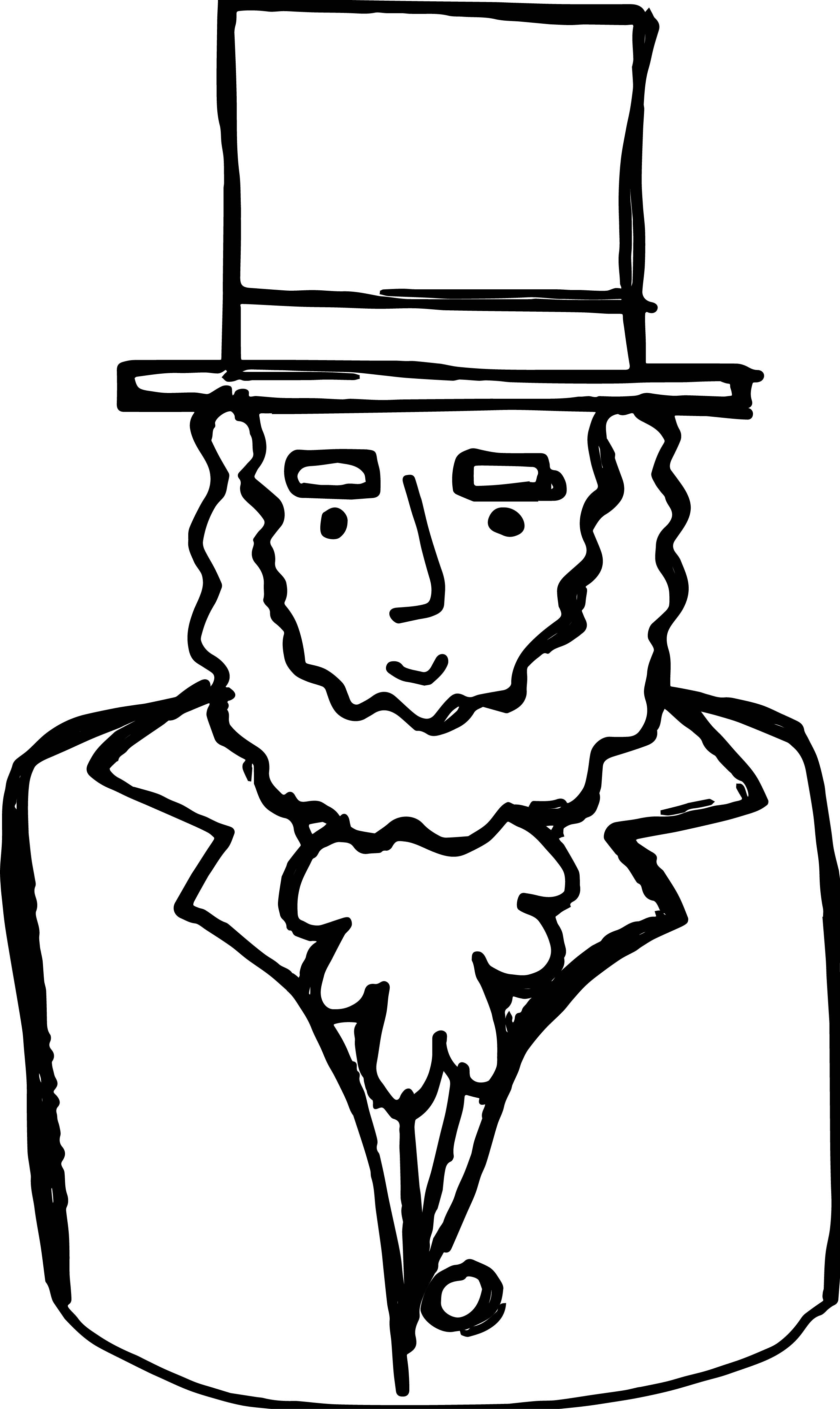 With hat at paintingvalley. Abraham lincoln clipart drawing