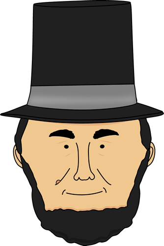 abraham lincoln clipart easy