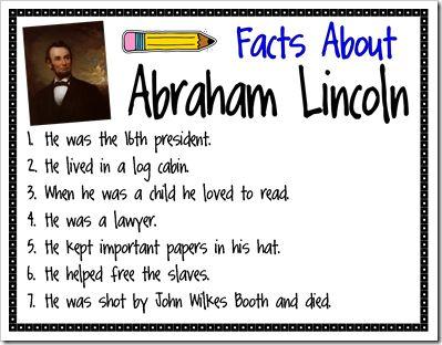 best president s. Abraham lincoln clipart fact