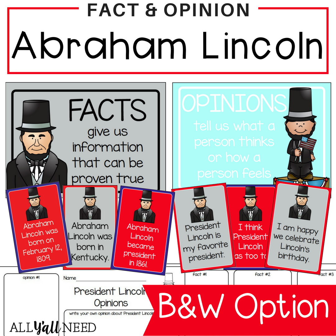 Abraham lincoln clipart fact. And opinion facts help