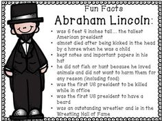 Abe facts school io. Abraham lincoln clipart fact