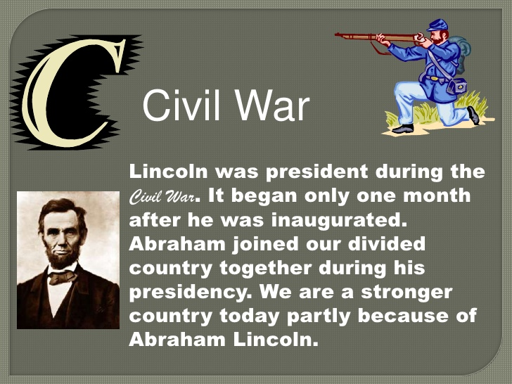 Abc of . Abraham lincoln clipart fact